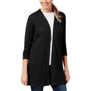 Karen Scott Plus Size Long Sleeve Cardigan Sweater